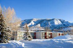 Winter & Bauhaus-inspired architecture at the Aspen Meadows Resort Herbert Bayer, Aspen Ski Resort, Bauhaus, Aspen Hotel, Colorado Mountains, Colorado Rockies, Denver Colorado, Mountain Vacations, Colorado Vacations