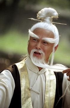Master Pai Mei from Kill Bill - kung fu master, also master of an excellent moustache/beard/hair/chopstick combo.