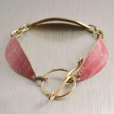 Rose Pink Brass Bracelet
