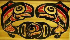 Salmon. Pacific Coast, Pacific Northwest, West Coast, Native Art, Native American Art, Salmon Run, Indian Artwork, Tlingit, Bent Wood