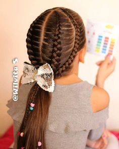 37 Creative Hairstyle Ideas For Little Girls childrens hairstyles for school kids hairstyles for girls kid hairstyles girl easy little girl hairstyles kids hairstyles braids easy hairstyles for school step by step quick hairstyles for Easy Little Girl Hairstyles, Quick Hairstyles For School, Kids Braided Hairstyles, Creative Hairstyles, Trendy Hairstyles, Hairstyles 2016, Ponytail Hairstyles, Short Haircuts, Haircut Short