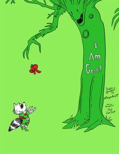 11 Pieces Of Fantastic 'Guardians Of The Galaxy' Groot Fan Art. Groot the Giving Tree Vin Diesel, Chris Pratt, Guardians Of The Galaxy, Stan Lee, Wallpaper Cars, Captain America, The Nerd, Jorge Ben, Deadpool