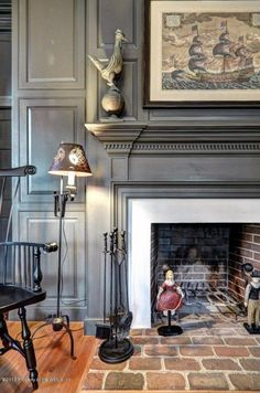 2989 Kitchums Close, Williamsburg, VA - 3 Bed, 2 Bath Single-Family Home Fireplace Surrounds, Fireplace Design, Fireplace Mantles, Fireplace Makeovers, Stone Fireplaces, American Interior, American Decor, Saltbox Houses, Old Houses