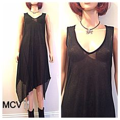 50% OFF Vintage 90s minimalist  sheer goth by MainCourseVintage