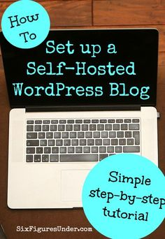 The technical side of setting up a blog can feel overwhelming, but anyone can set up a self-hosted WordPress blog with this step-by-step tutorial! Get started blogging today!