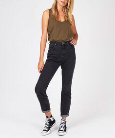 Rollas Dusters Black Steel   Jeans   Clothing   Shop Womens   General Pants Online