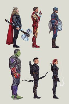Avengers Endgame, an art print by Johnny Lighthands