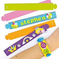 Fun foam bracelets to decorate and personalise