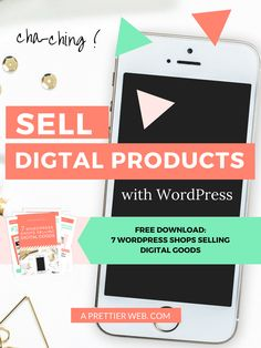 How to Sell Digital Products with WordPress from A Prettier Web! via @aprettierweb