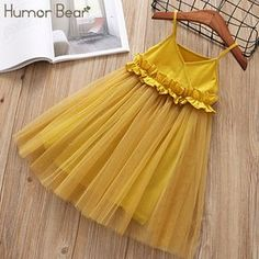 Discount This Month Humor Bear 2019 Girls Mesh Dress Princess Dress Tutu Party Gown Birthday Fashion Baby Clothes Children Summer Clothes Kids Frocks, Frocks For Girls, Little Girl Dresses, Girls Dresses, Toddler Girl Dresses, Dresses Dresses, Flower Dresses, Dance Dresses, Cotton Dresses
