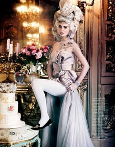 """The 13 Most Decadent Fashion Moments Inspired by Marie Antoinette: """"All the Riches A Girl Can Have"""" editorial from Vogue Japan's October 2012 issue."""