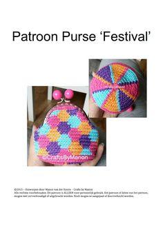 Mochila purse - Festival | CraftsbyManon Crochet Coin Purse, Crochet Purses, Knit Or Crochet, Crochet Hats, Tapestry Crochet, Homemade Gifts, Purses And Bags, Crochet Patterns, Knitting