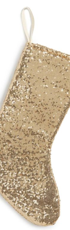 Levtex Sequin Stocking Magical Christmas, Gold Christmas, Christmas Stuff, Decoration Christmas, Holiday Decor, Christmas Stockings, Deck, White Gold, Decorating Ideas