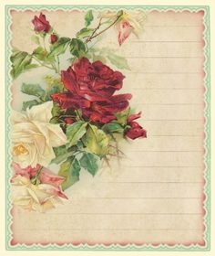 Rewards of the simple life...  Catherine Klein roses journal card ~ 4 x 5 inches