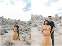 Images: Erica Noelle Photography Flower Crown: Sweet Stems Florist Location: Joshua Tree Dresses: Chicaboo Maternity and Filly Boo Maternity Maternity Gowns, Maternity Portraits, Maternity Photographer, Maternity Session, Maternity Pictures, Pregnancy Photos, Photoshoot Ideas, Poses, Couple Photos