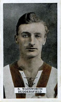Sam Wadsworth of Huddersfield Town in Huddersfield Town, 1920s, Football, Soccer, Futbol, Huddersfield Town A.f.c., American Football, Soccer Ball