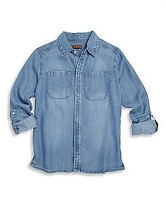 7 For All Mankind Little Girl's & Girl's Button-Down Shirt