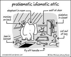 Problematic idiomatic attic #illustration #English #idioms