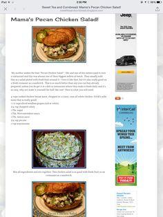 Mama's Pecan Chicken Salad Recipe