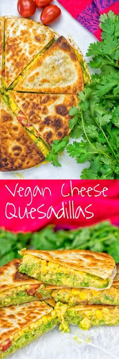Vegan Cheese Quesadillas - these were great, especially with salsa on the side! My carnivore mother agreed. I used half a cup of some vegan nacho cheese id made instead of the 4 tbsp N. Yeast, which gave it some good spice and a nice texture.