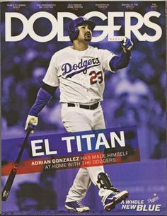 ADRIAN-GONZALEZ-2013-Dodgers-Program-Magazine-PUIG-Ryu-HERSHISER-JP-Howell