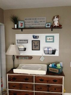 Lots of baskets plus changing table topper.