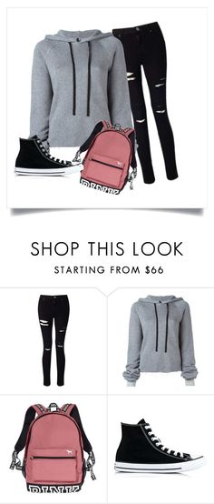 """""""Untitled #304"""" by krisogi on Polyvore featuring Miss Selfridge, Unravel, Victoria's Secret and Converse"""