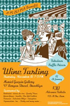 Poster for PS 261 Wine Tasting