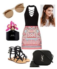 """""""Summer #yes"""" by fashion-girl-katrina on Polyvore featuring Miss Selfridge, Accessorize, Mystique, Yves Saint Laurent, REGALROSE and Marc Jacobs"""