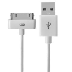 [$1.56] USB Data Cable for New iPad (iPad 3) / iPad 2/ iPad, iPhone 4 & 4S, iPhone 3GS/3G, iPod touch, Length: 1m (Original)(White)