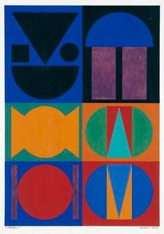 Artwork by Auguste Herbin, VICTOR, Made of gouache on paper