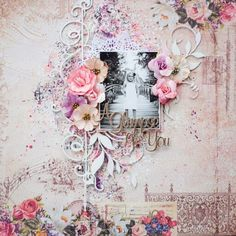 Beautiful mixed media layout