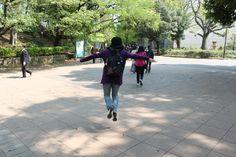 flying at Ueno Park, April 2013