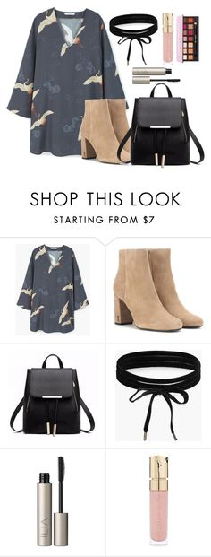 """""""School"""" by secrets-xoxo ❤ liked on Polyvore featuring MANGO, Yves Saint Laurent, Boohoo, Ilia, Smith & Cult, outfit, school and ideas"""