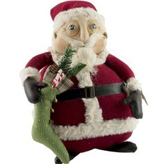 Christmas Joe Spencer Santa Claus Doll Albert Gathered Traditions Roly Poly #Doll