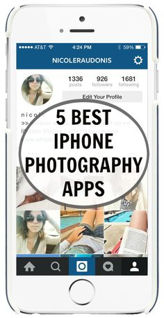 The 5 Best iPhone Photography Apps - Simply Nicole #IphonePhotography