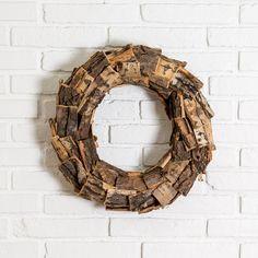 Wooden Bark Wreath