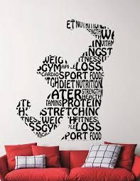 Fitness Wall Decal Gym Vinyl Stickers Sports Room Decor Home Interior Sport Wall Art Gym Decoration Wall Words Removable Stickers - Tap the pin if you love super heroes too! Cause guess what? you will LOVE these super hero fitness shirts! Style Fitness, Fitness Design, Gym Design, Gym Fitness, Sports Room Decor, Sports Wall, Kids Sports, Home Gym Decor, At Home Gym