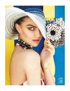 """Tropical"" | Model: Barbara Fialho, Photographer: Danny Cardozo, Elle Mexico, January 2013"