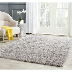 $75 Safavieh Athens Light Grey Shag Rug (5'1 x 7'6)