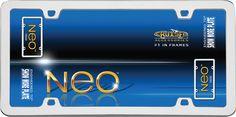 Neo, Chrome License Plate Frame