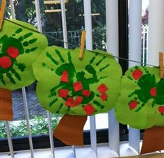 * Handprint Apple Tree Craft (from The Teacher's Backpack)