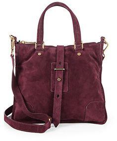 #handbags  Belstaff Hampton Suede Satchel