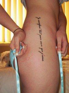 Vertical script thigh