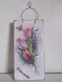 Targa shabby in legno con lavanda , by ♥La casa di Gaia♥, 10,00 € su misshobby.com