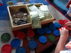 Pretend play is a great way to get children familiar with money and to begin the process of teaching financial responsibility!
