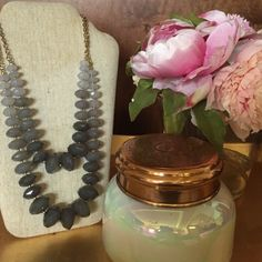 Anthropologie ombré beaded necklace This double layer ombré necklace is perfect for dress up or down. Only worn a few times, and is in great condition! Anthropologie Jewelry Necklaces
