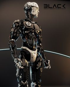 sekigan:  Robotic man in profile by Ociacia on DeviantArt
