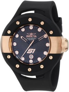 Black Rubber S1 Rally Racer Rose Gold Tone Black Dial Stainless Steel - http://uhr.haus/invicta/black-rubber-s1-rally-racer-rose-gold-tone-black