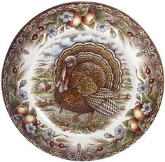 Royal Stafford Turkey Dinner Plate.  Scored 16 of these at 4.99 each!  Thank you Homegoods!